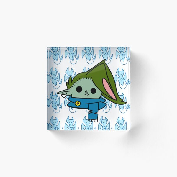 goblin boi mask 1  Acrylic Block