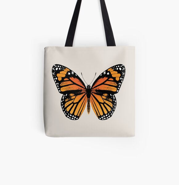 Monarch Butterfly | Vintage Butterflies |  All Over Print Tote Bag