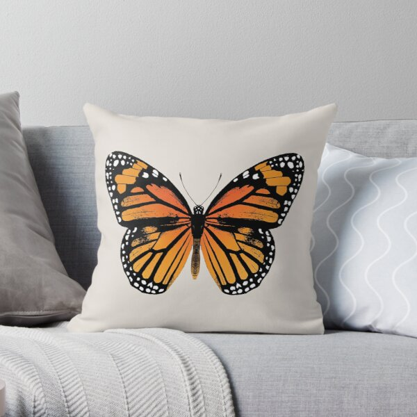 Monarch Butterfly | Vintage Butterflies |  Throw Pillow