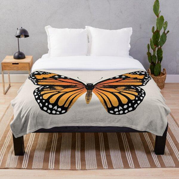 Monarch Butterfly | Vintage Butterflies |  Throw Blanket