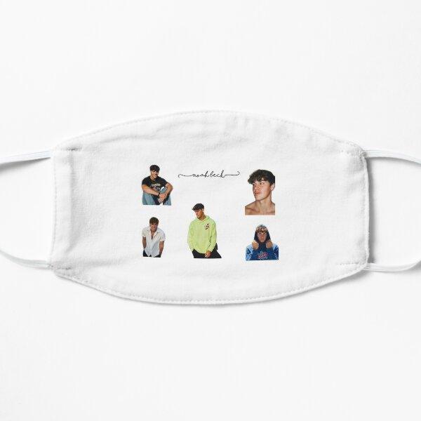 noah beck sticker pack Flat Mask