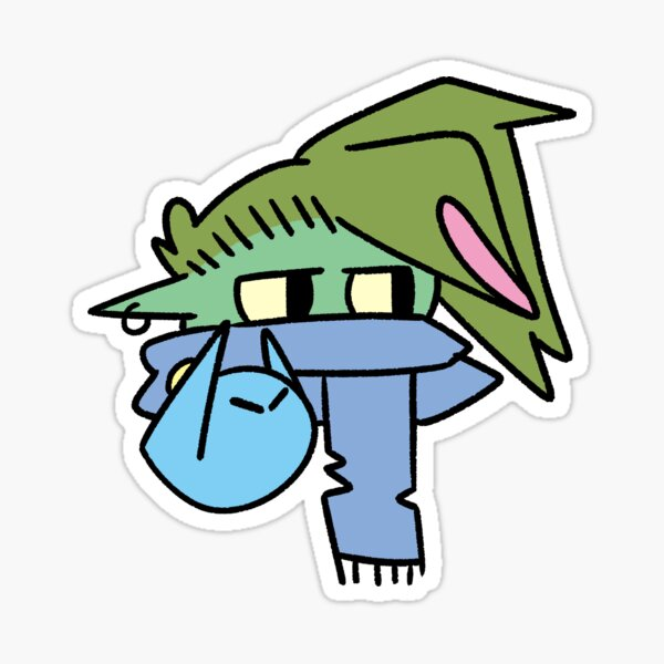 goblin boi mask 3  Sticker