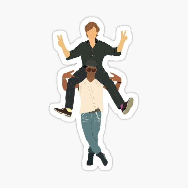 Matthew Gray Gubler and Shemar Moore  Sticker