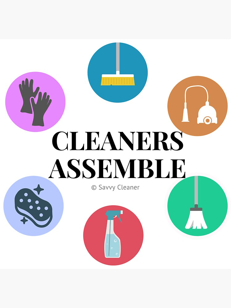 Cleaners Assemble Housekeeping Gift by SavvyCleaner