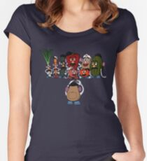 Potato family Women's Fitted Scoop T-Shirt