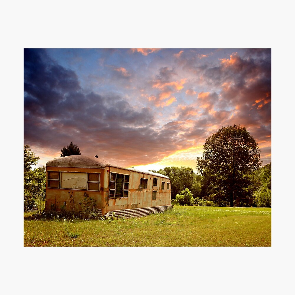 Lake Station Trailer Photographic Print