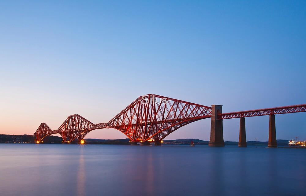 The Forth Rail Bridge crossing between Fife and Edinburgh, Scotland. by -Silus-