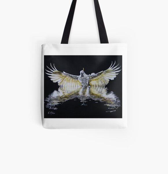 Cockatoo Landing All Over Print Tote Bag