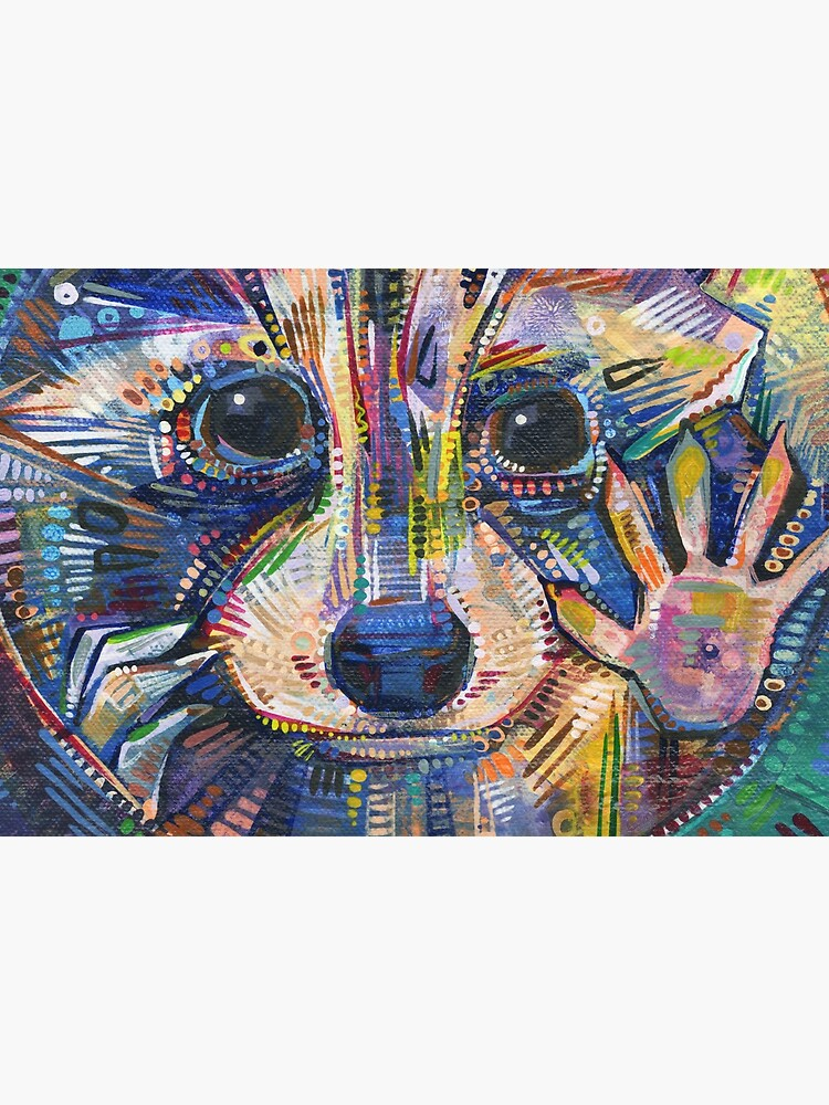 Raccoon Painting - 2015 by gwennpaints