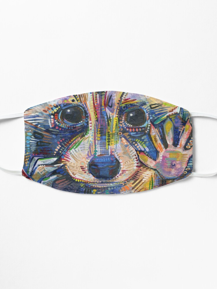 Alternate view of Raccoon Painting - 2015 Mask