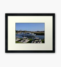 Norfolk Broads Cruiser Framed Print