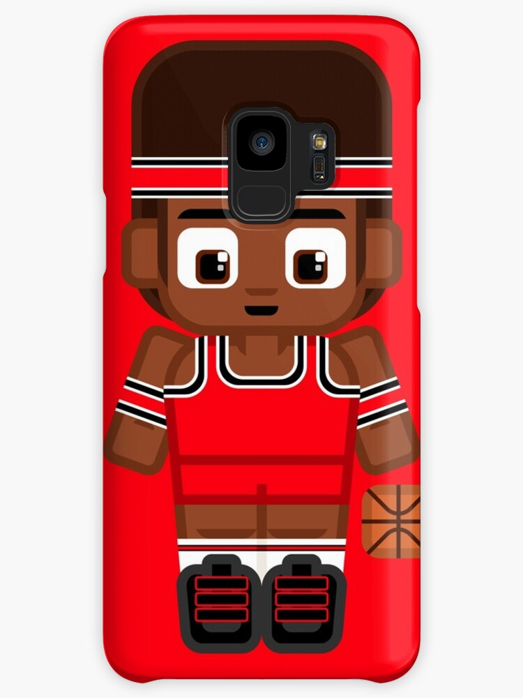 Super cute sports stars - Basketball Red and Black by boxedspaper