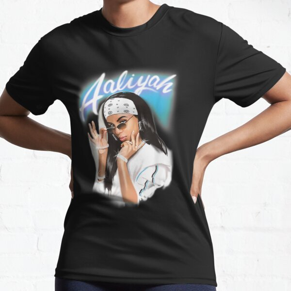 Aaliyah Airbrush Bandana Photo 4 Active T-Shirt