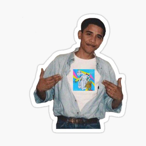 obama x still woozy Sticker