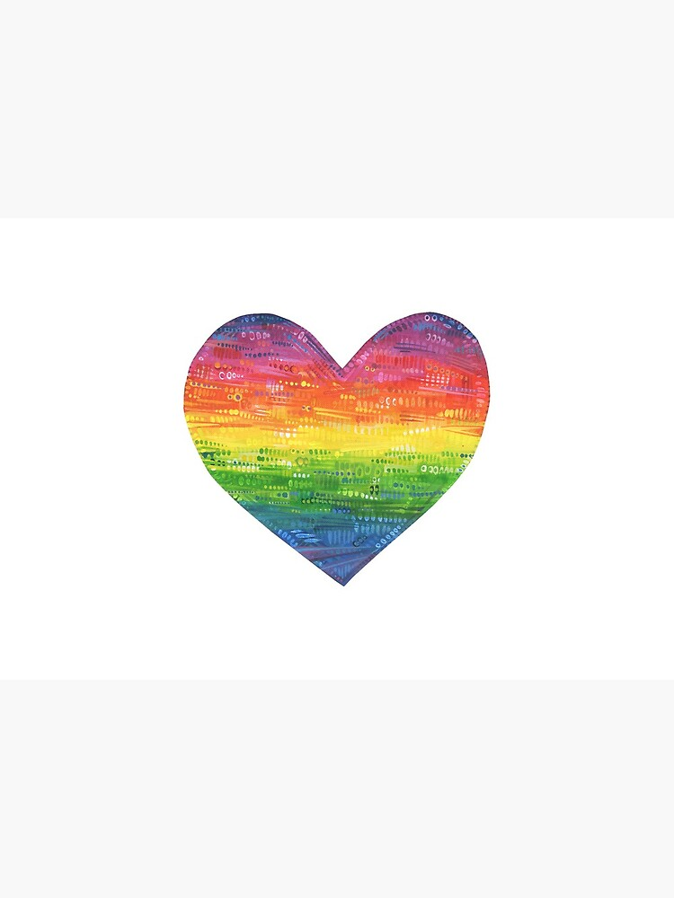 Rainbow Heart Painting - 2017 by gwennpaints