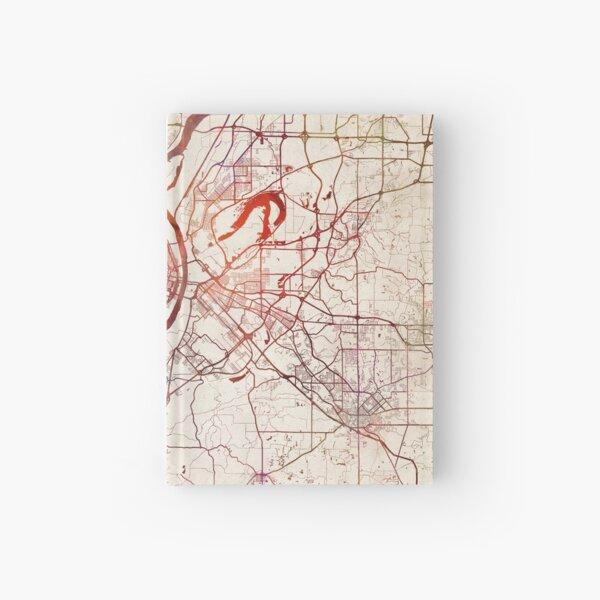Saint Louis map Hardcover Journal