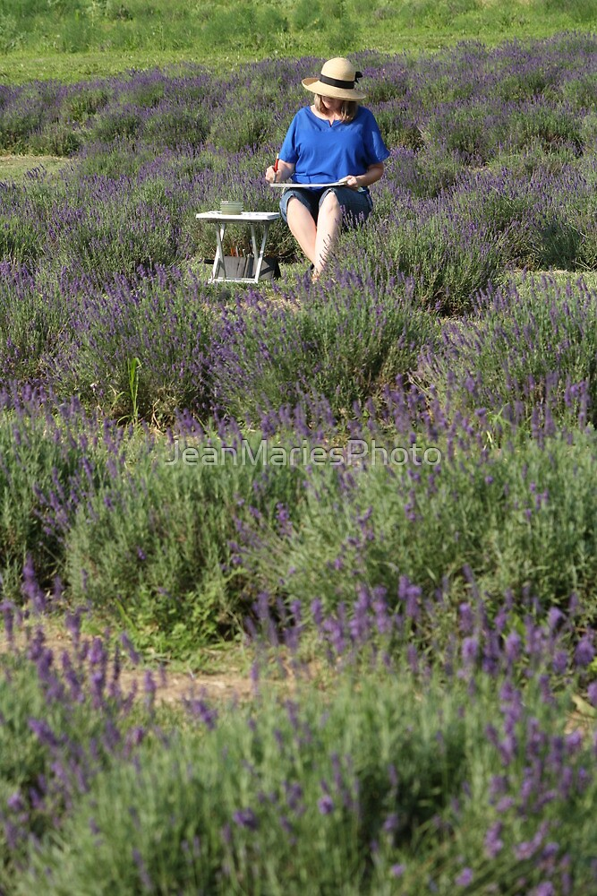 Painting in the Lavender by JeanMariesPhoto