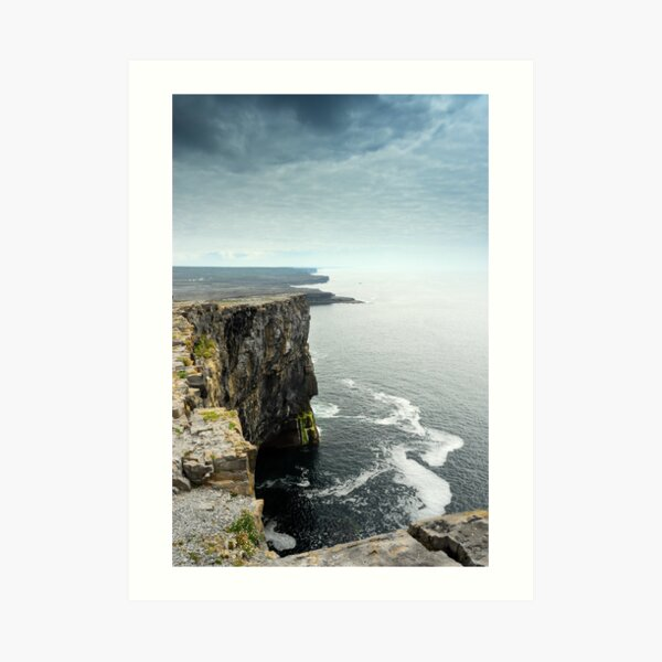 Cliffs at Dun Aengus, Inishmore Art Print