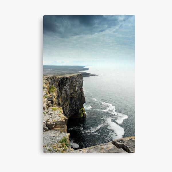 Cliffs at Dun Aengus, Inishmore Canvas Print