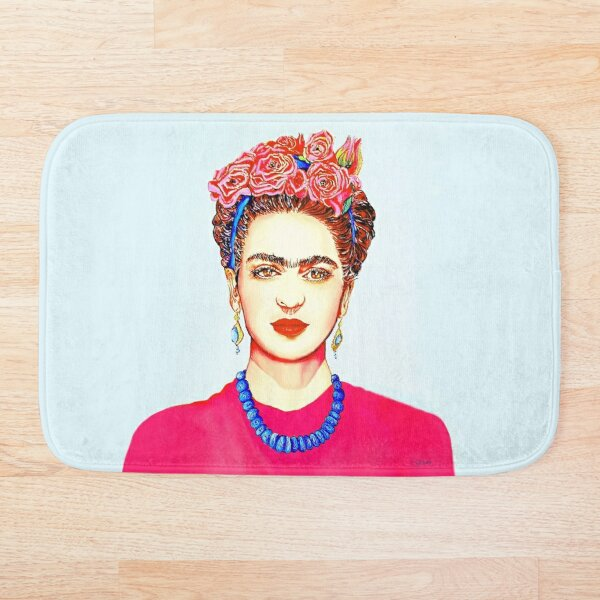 FRIDA WITH FLOWERS Bath Mat