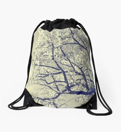 May the flowers fill your heart with beauty Drawstring Bag