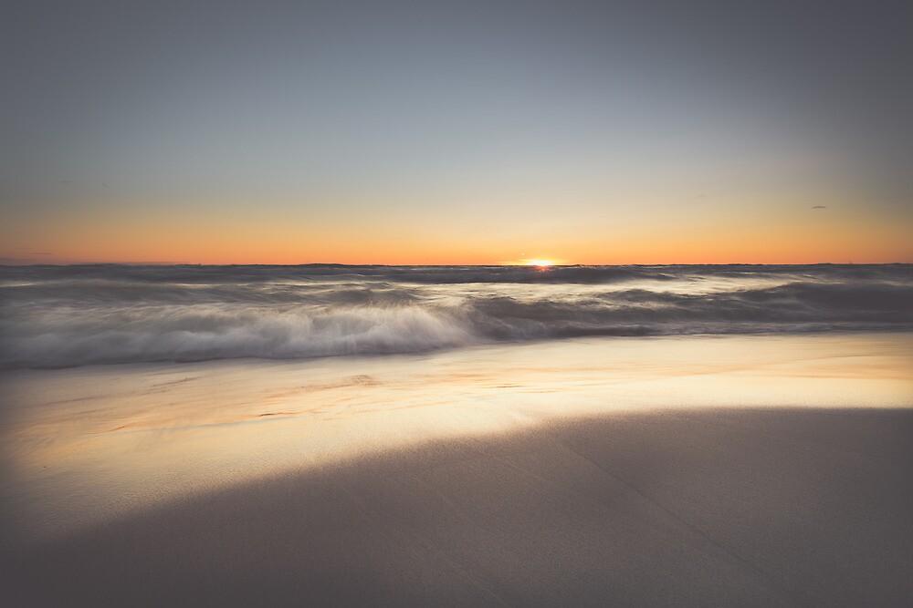 Sunset over Lake Michigan by duotone