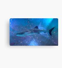 Whale-shark in the fractal big blue. Leinwanddruck