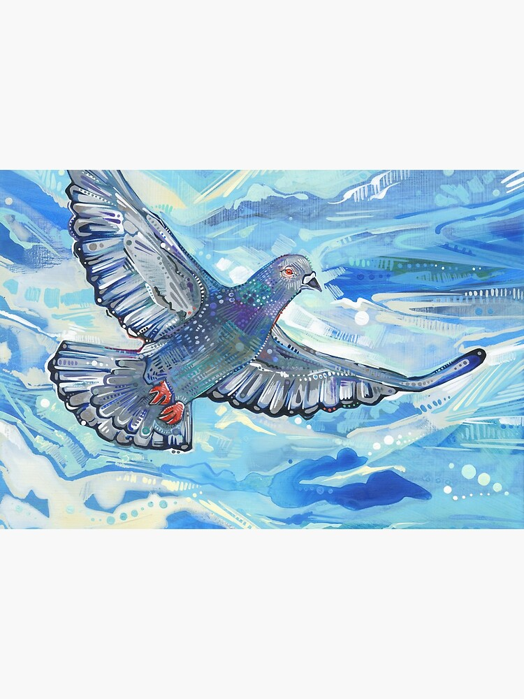 Rock Pigeon Painting - 2012 by gwennpaints