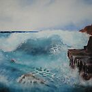 Study of waves on rocks by Gary Shaw