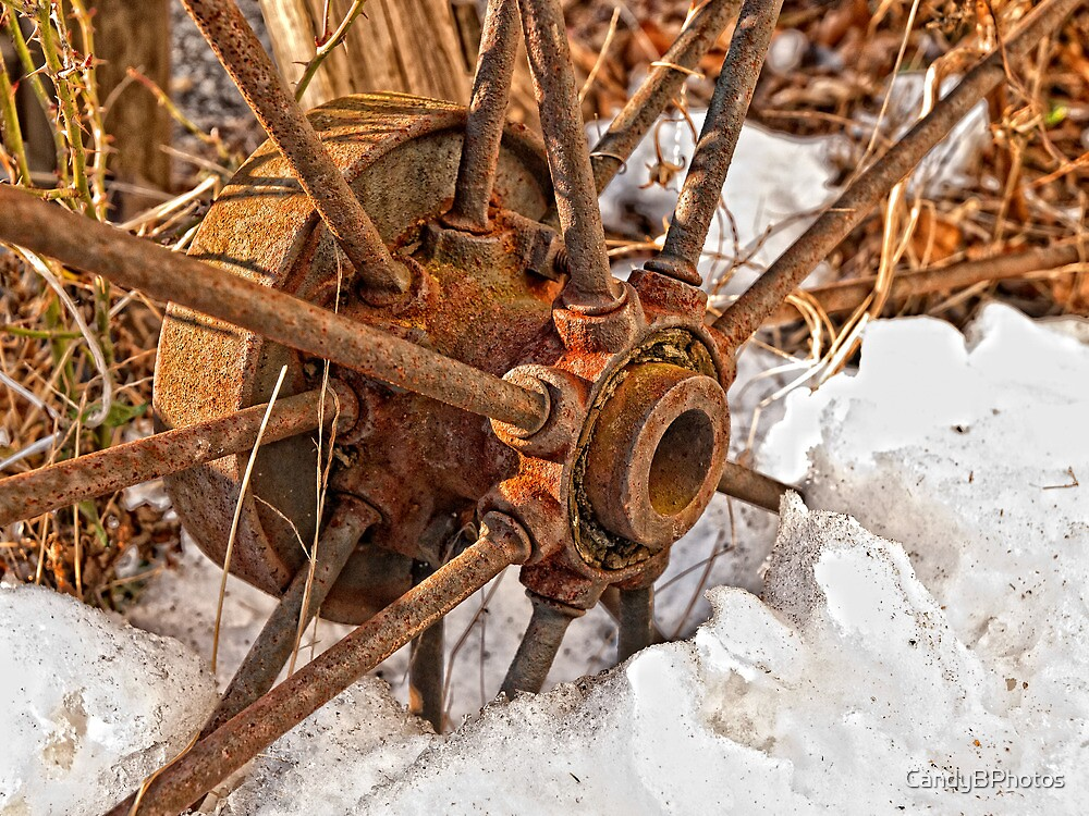 Rusty Wheel by CandyBPhotos