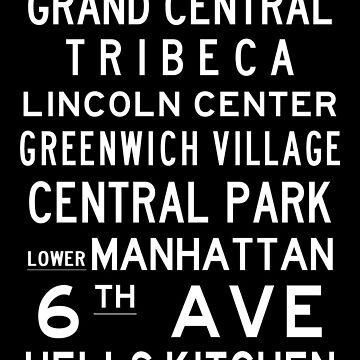 "New York ""SOHO"" Classic Black & White subway sign art by Subwaysign"