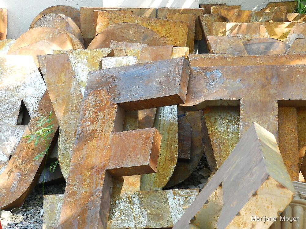 Alphabet Junk Yard  by Marijane  Moyer