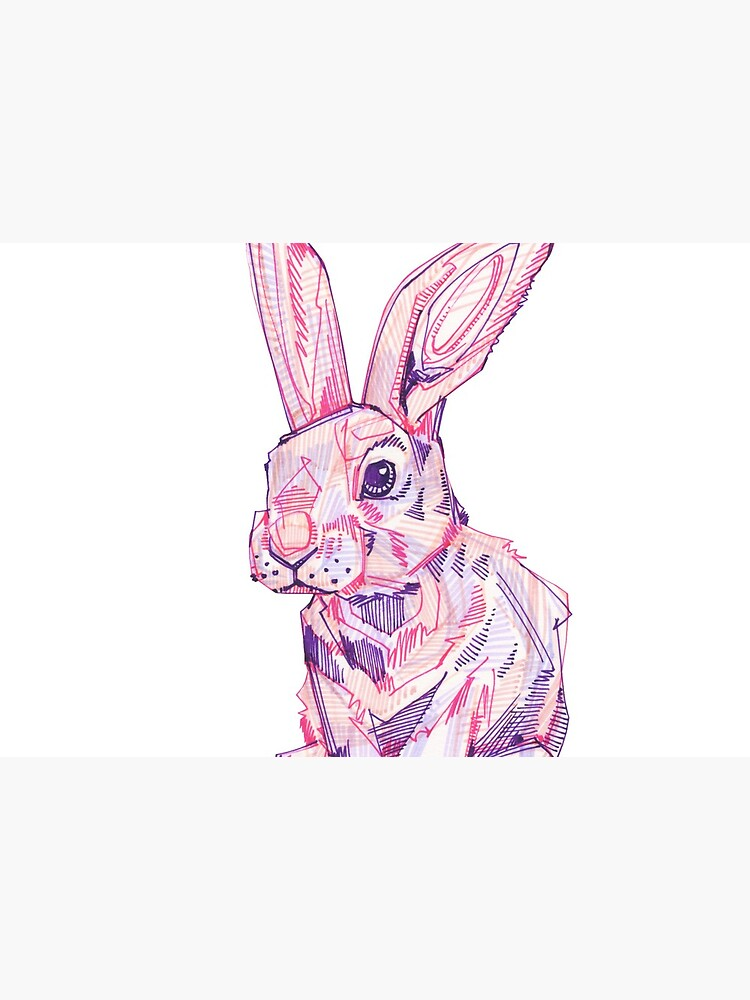 Pink Rabbit Drawing - 2017 by gwennpaints