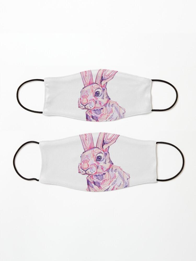 Alternate view of Pink Rabbit Drawing - 2017 Mask