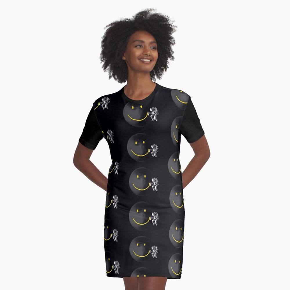 Make a Smile Graphic T-Shirt Dress