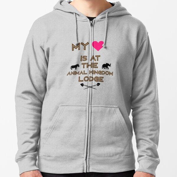 My Heart is at the Animal Kingdom Lodge Zipped Hoodie