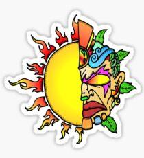 Tiki Sun Sticker