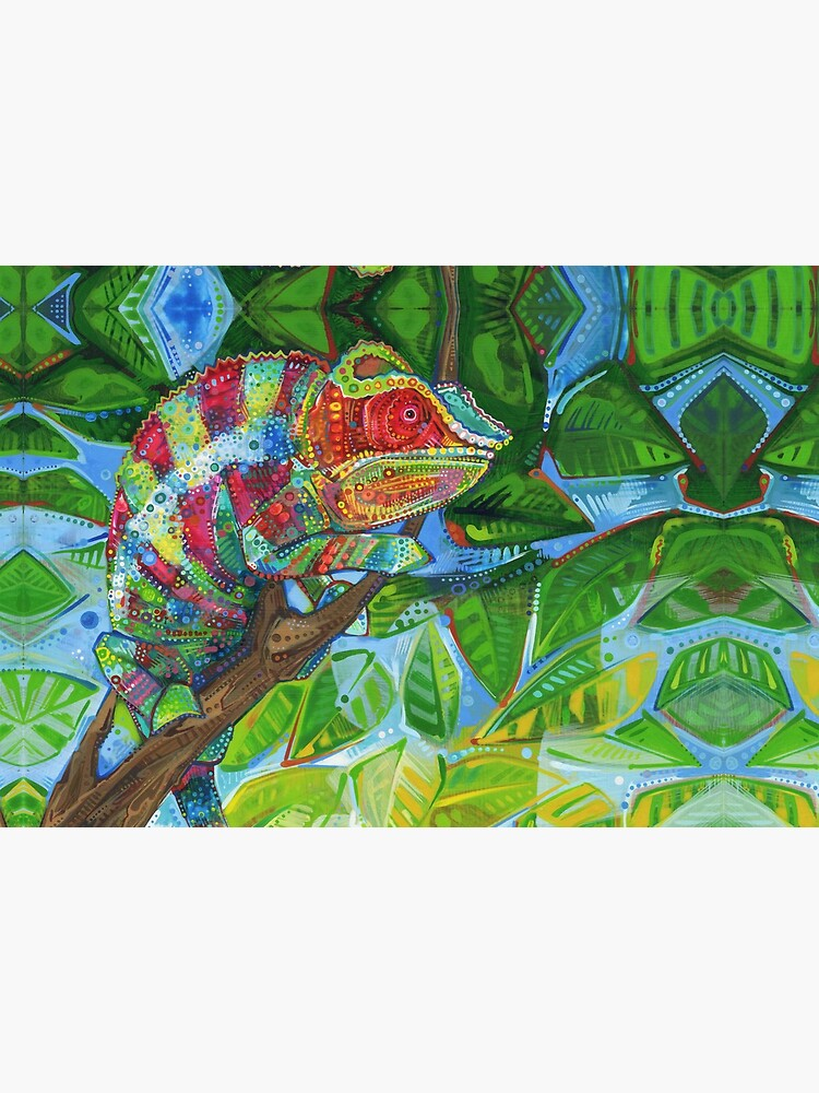 Panther Chameleon Painting - 2012 by gwennpaints