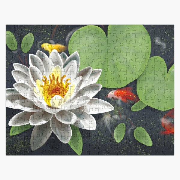 Water Lily and Koi Jigsaw Puzzle