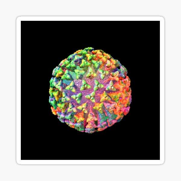 Coronavirus Rainbow on Black Sticker