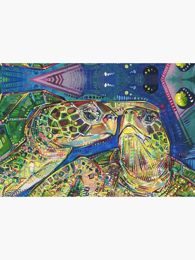 Turtles Two Painting - 2016 by gwennpaints