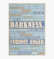 Pulp Fiction: Ezekiel 25:17 Photographic Print