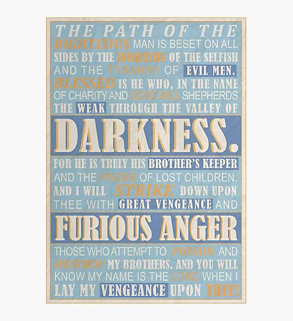 Pulp Fiction: Ezekiel 25:17 Photographic Print