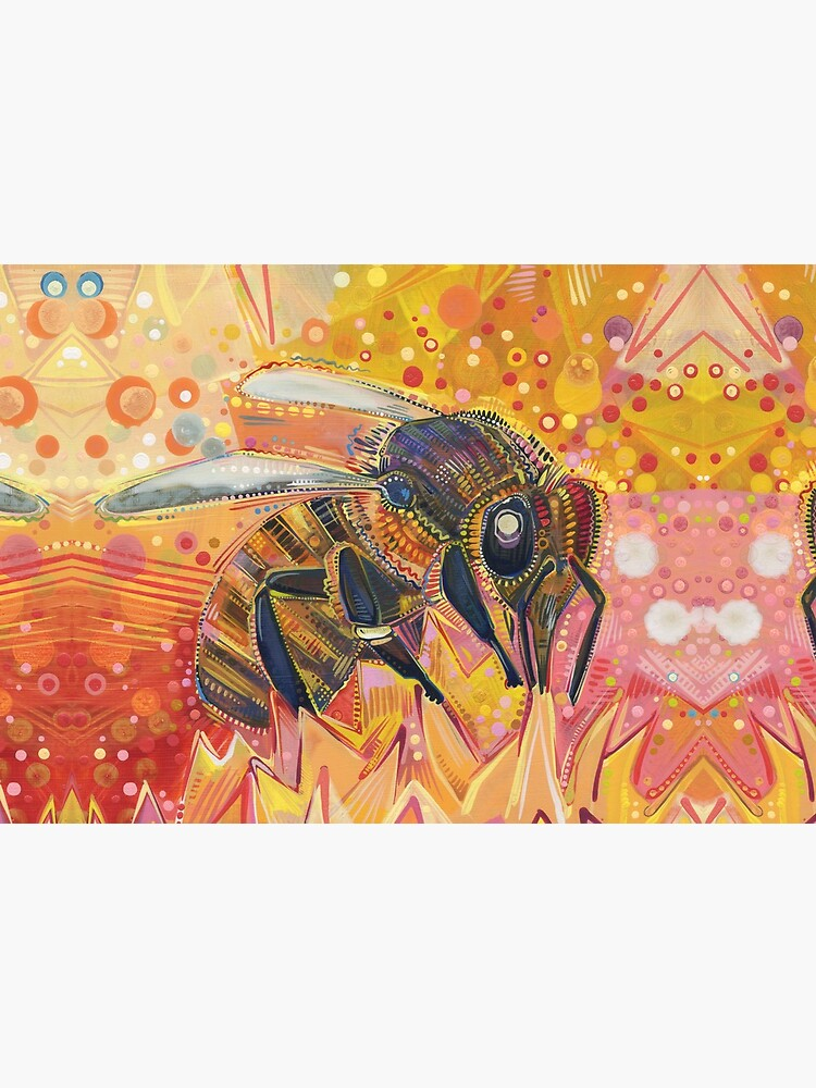 Western Honey Bee Painting - 2012 by gwennpaints