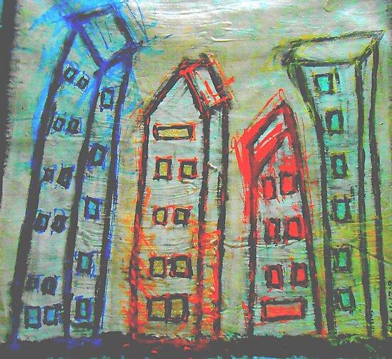 abstract city by songsforseba
