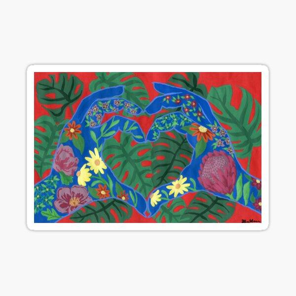 Plant Love Hands Sticker