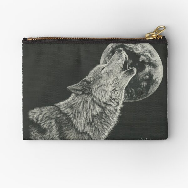 Howling At The Moon Zipper Pouch