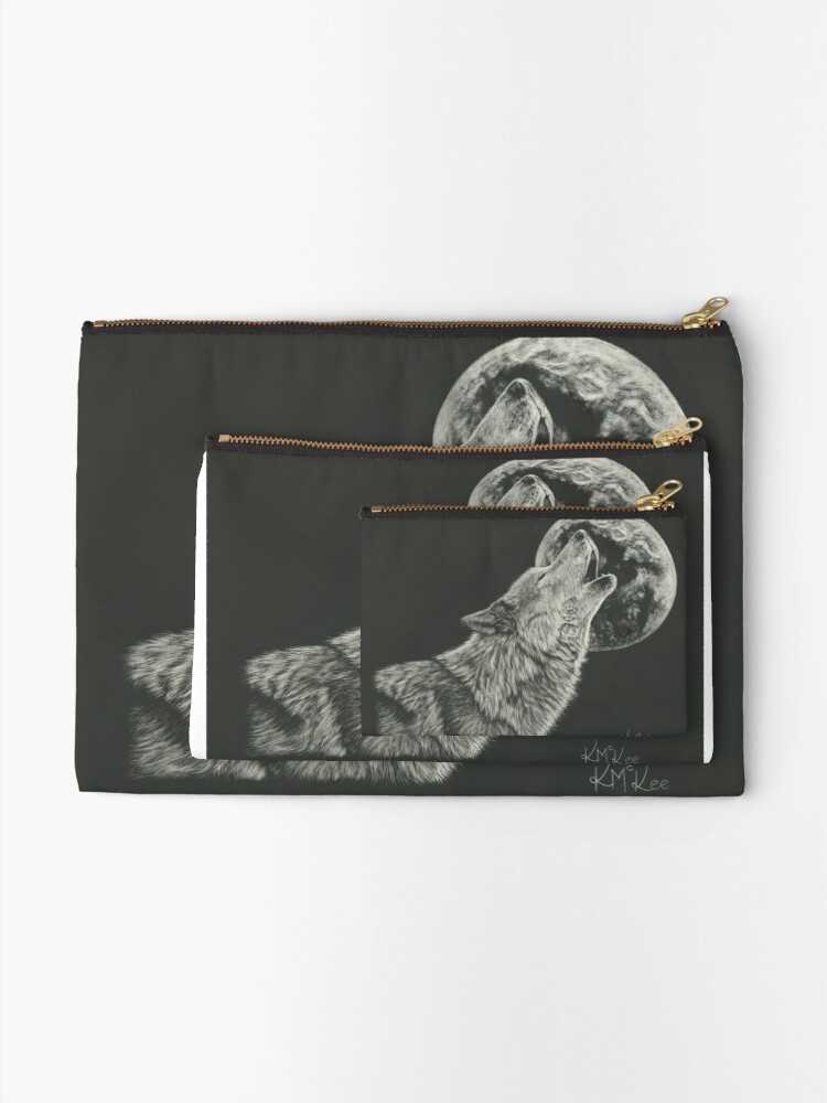 Alternate view of Howling At The Moon Zipper Pouch
