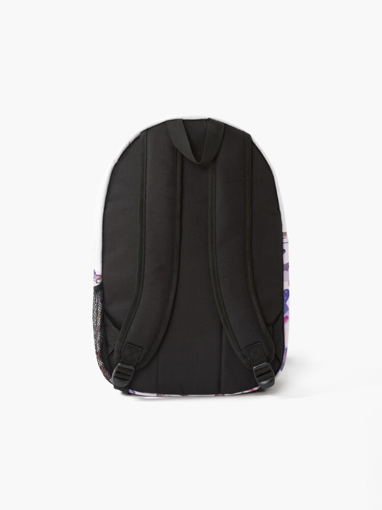 Alternate view of Shark day 2 - pastle Backpack