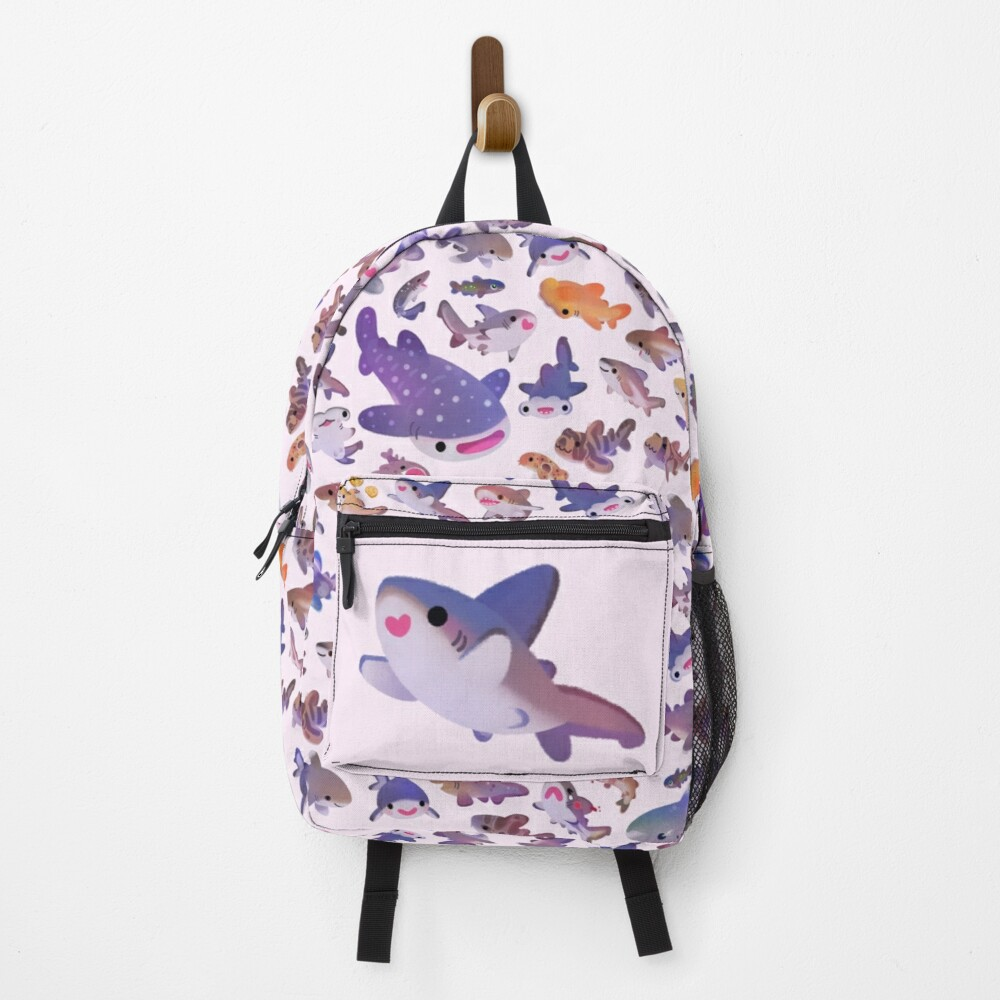 Shark day 2 - pastle Backpack